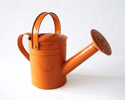 Orange watering can for kids