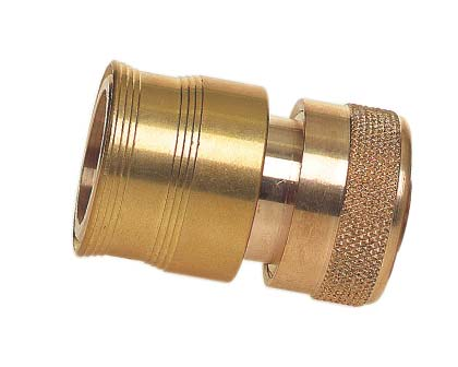 Hose Fitting - Brass 18mm click-on EZ Hose Connector NETA