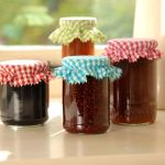 Gingham Jam Jar Covers - Burgon & Ball