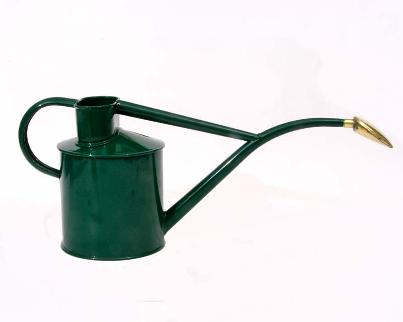 The Haws 1litre Watering Can in Heritage Green
