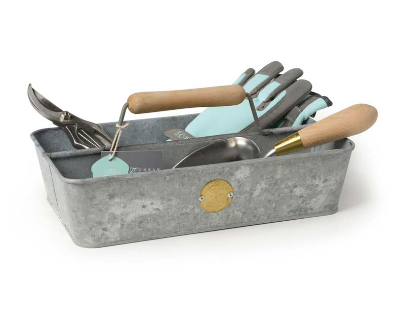 Galvanised trug, design by Sophie Conran, manufactured by Burgon & Ball