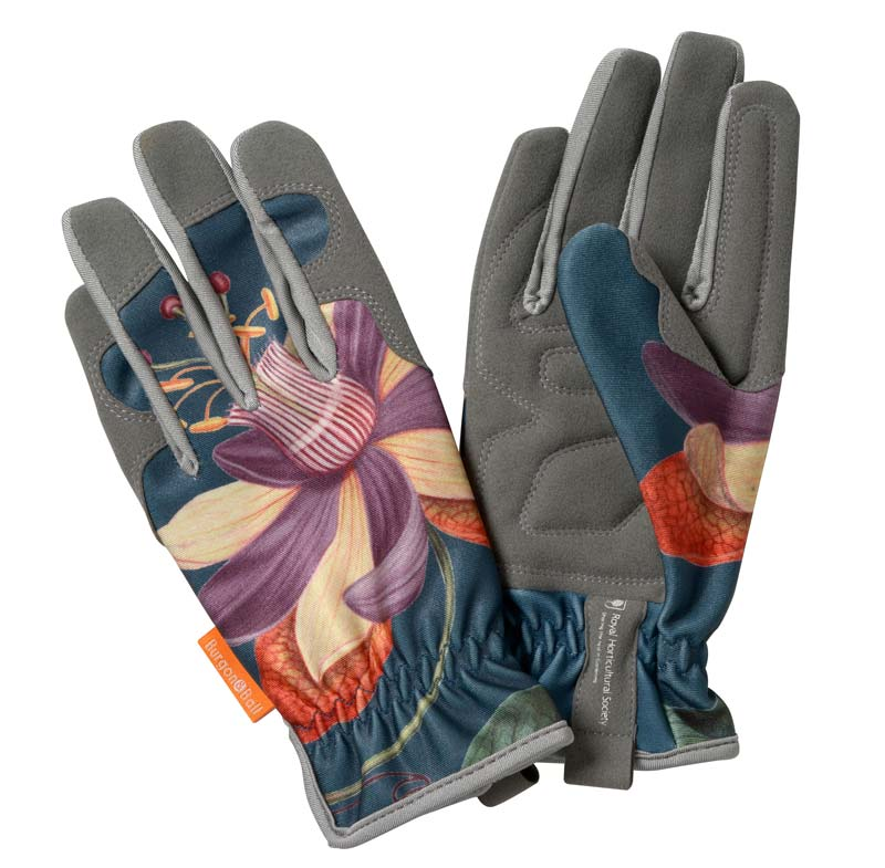 RHS endorsed Burgon and Ball Gloves Passiflora design