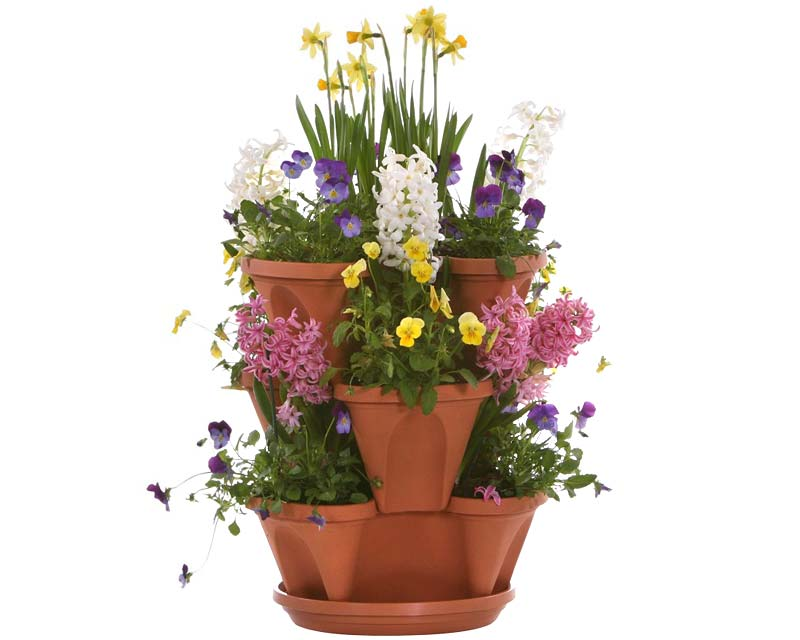 Mini- Stack-A-Pot, perfect for spring flowers