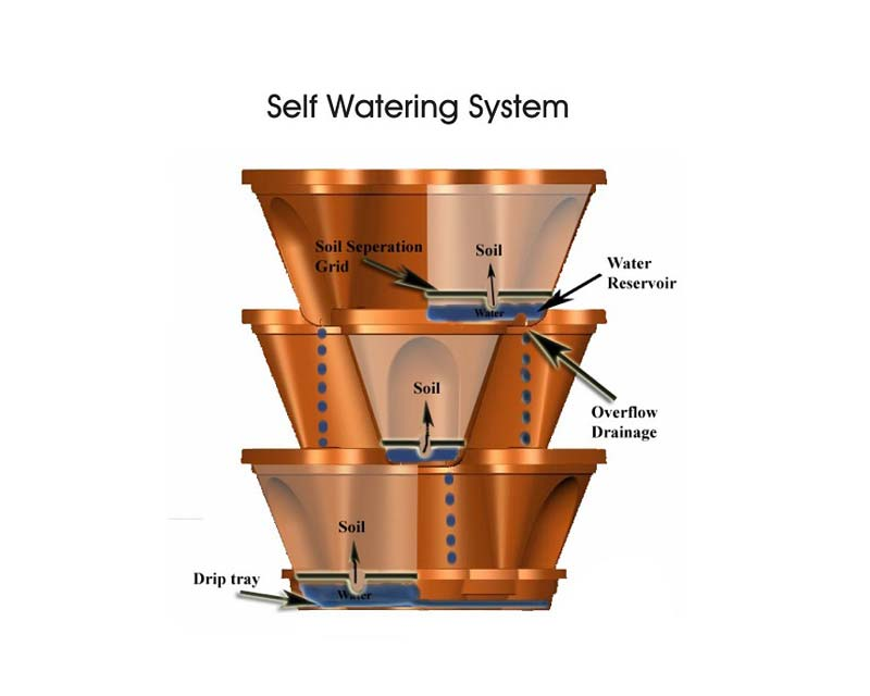 How the self watering system works