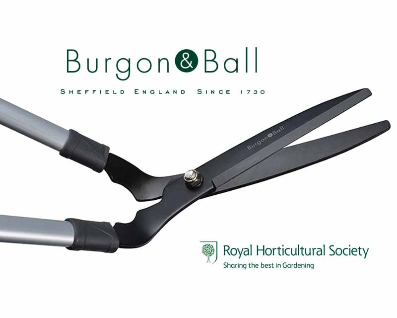 Long Handled Lawn Shears by Burgon and Ball of UK.
