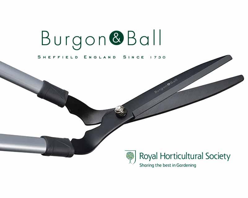 Gardensonline lawn shears long handled burgon and ball for Long handled garden shears