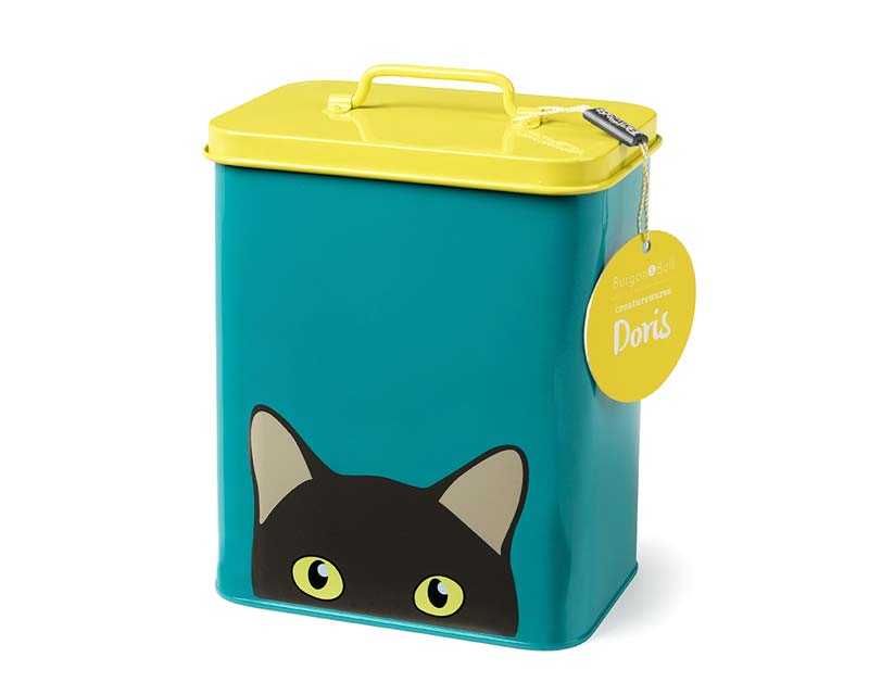 Enamel Cat Tin part of the Creatureware Range from Burgon and Ball