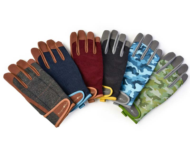 Burgon and Ball Dig the Glove Range - available in only three colours - Grey Corduory, Tweed and Denim