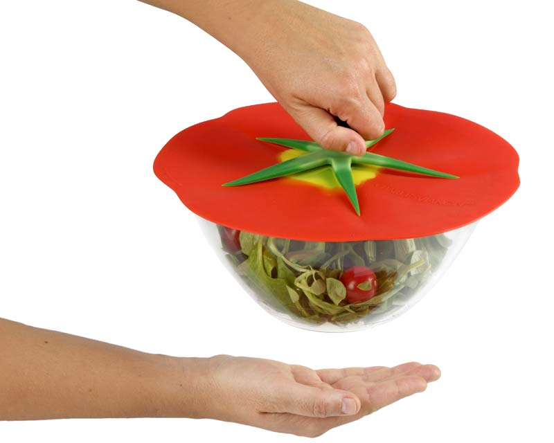 Tomato Lid - Charles Viancin seal tightly but peals off easily