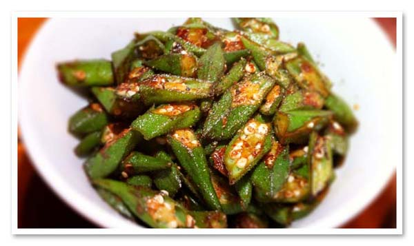 Fried Okra - ladies fingers