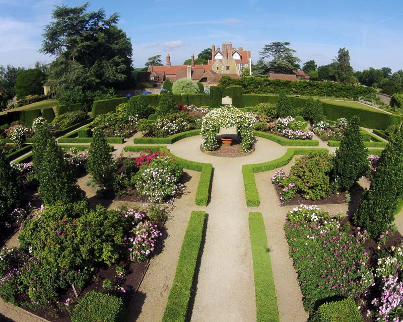 The famous rose garden at Loseley Park
