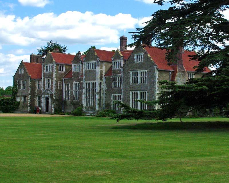 Losely Park House, alongside the impressive walled garden