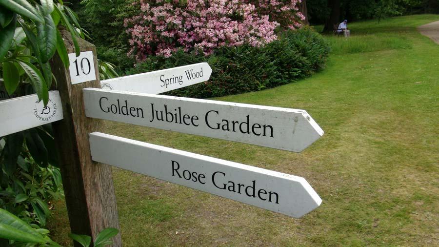 Savill Gardens - easy to follow signs