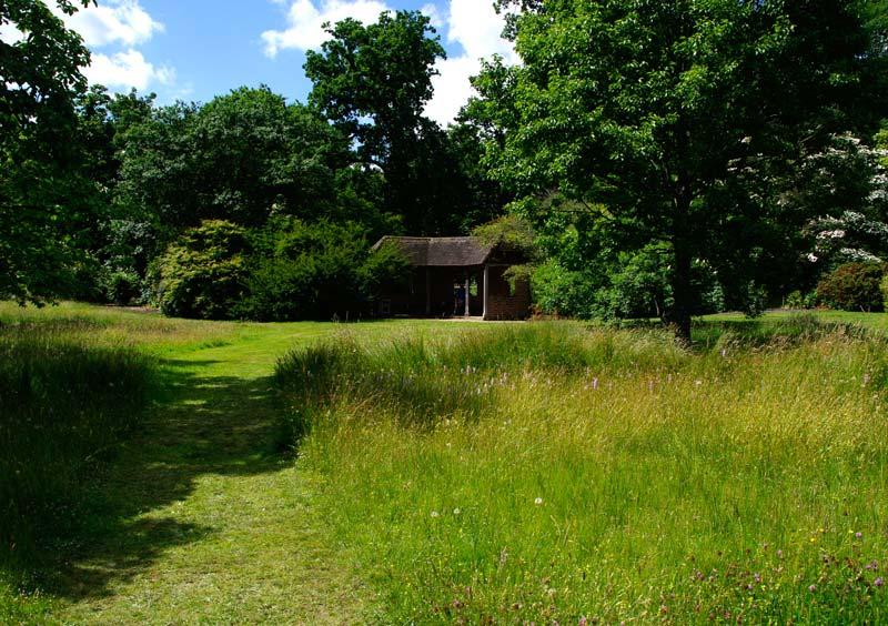 Savill Gardens - The Summer House a shady spot on a sunny day
