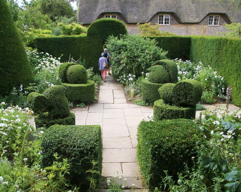 Hidcote Topiary in the White Garden