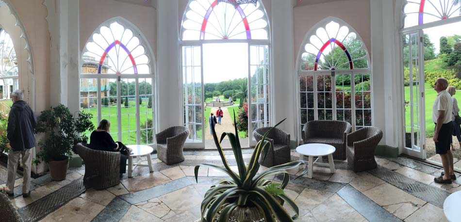 Orangery view to garden, Sezincote