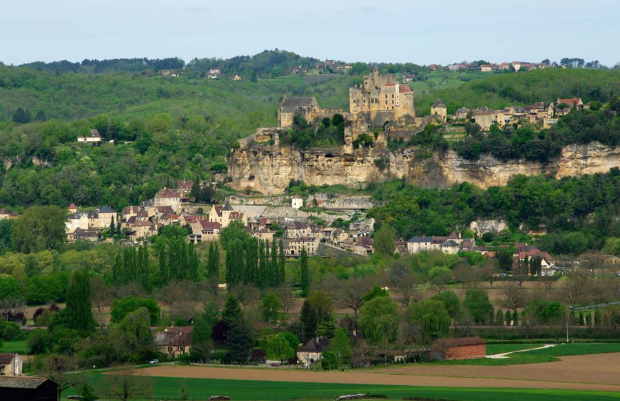 Chateau de Beynac, across the valley from the Gardens of Marqueyssac