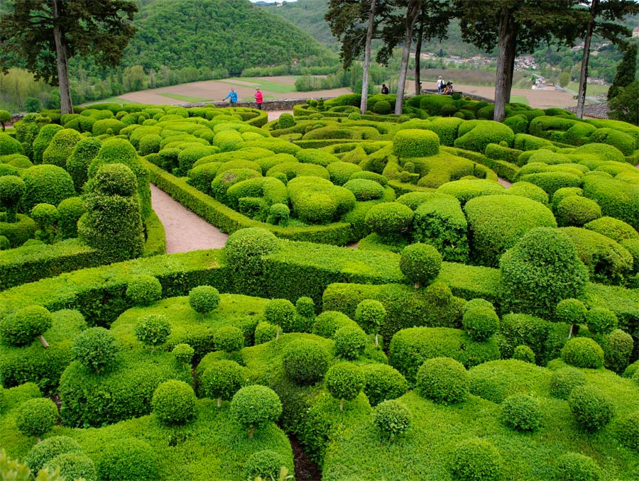 The main topiary garden at Marqueyssac