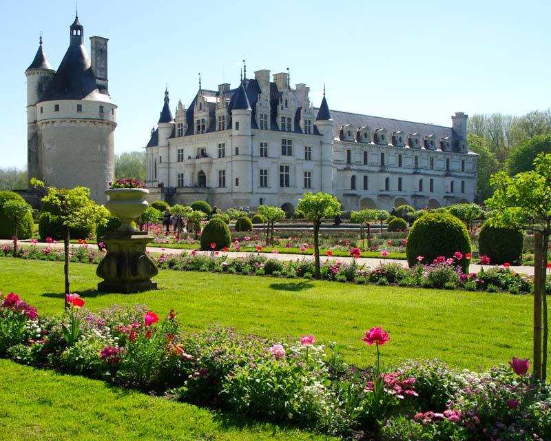 Catherine de Medici's garden Chateau de Chenonceau