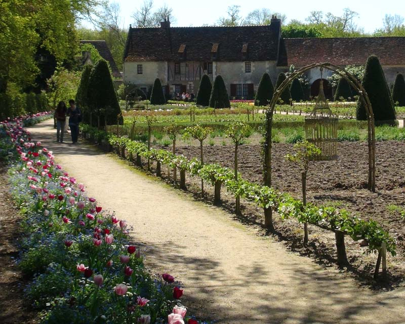 The kitchen gardens at Chenonceau, early springtime and freshly tilled.