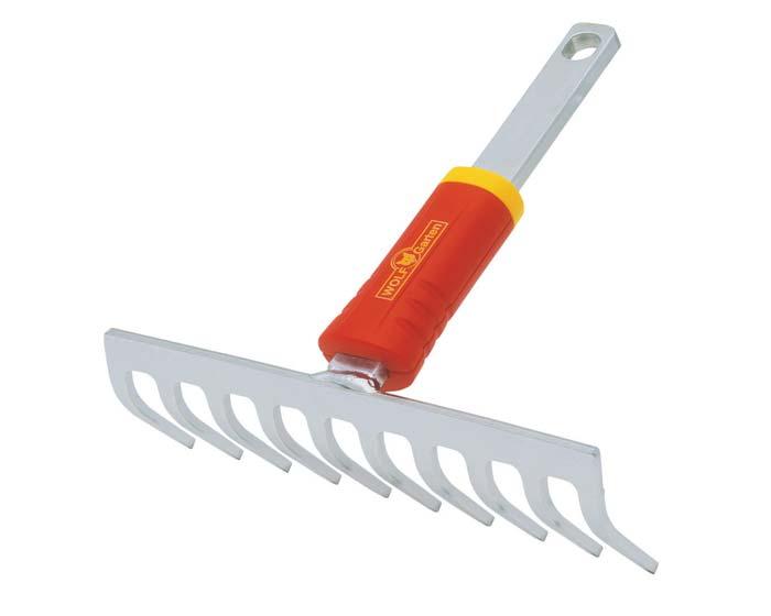 Small soil rake for multichange (multistar) handles