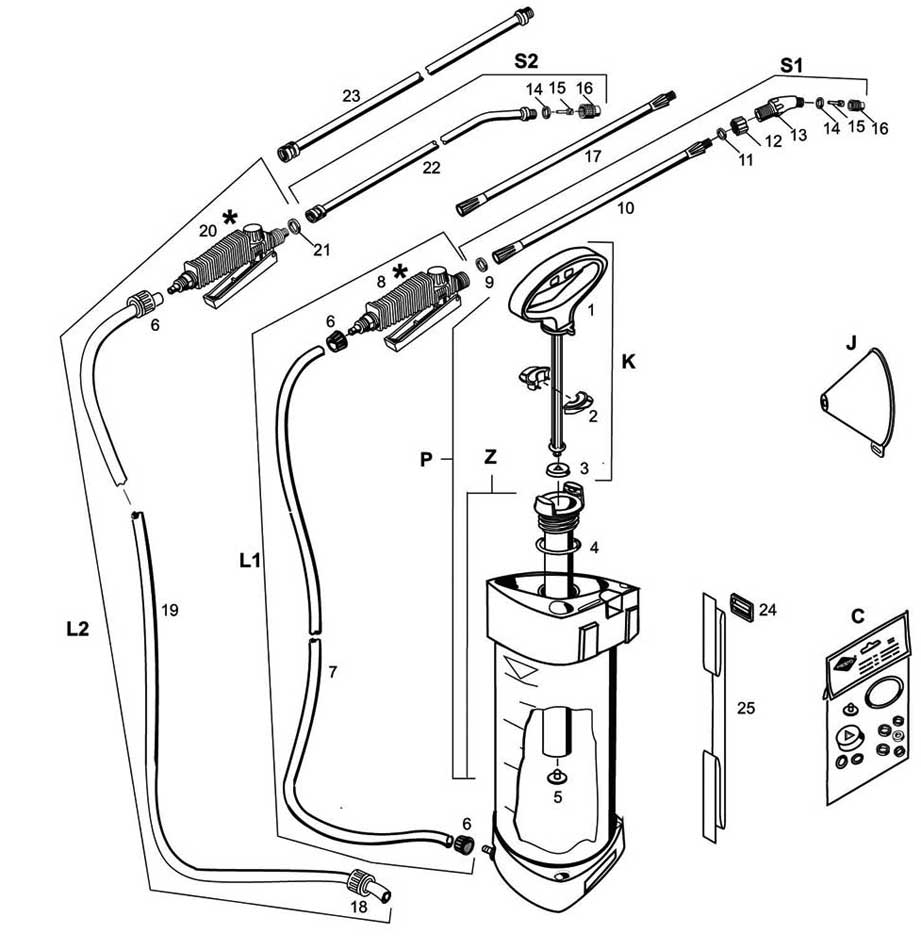 Detailed product diagram