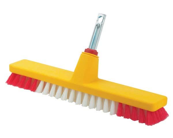 Stiff bristles for scrubbing