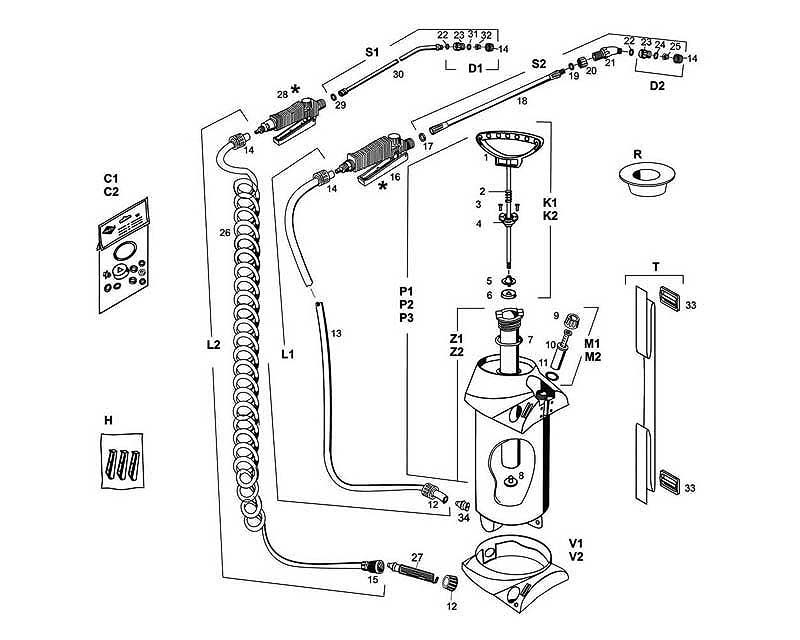Cleaner series exploded diagram of parts