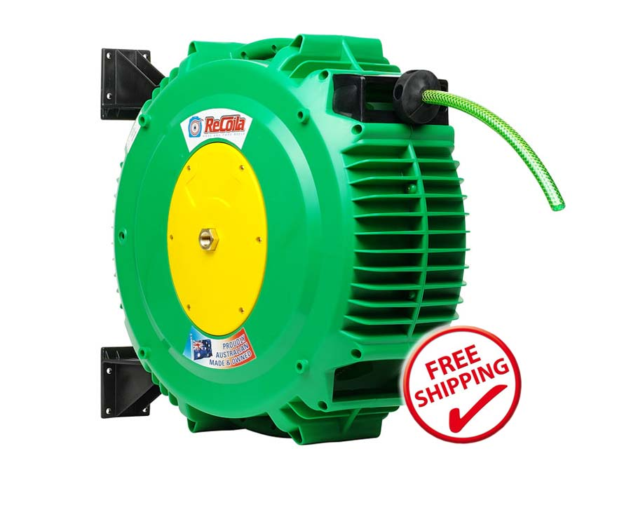 Recoila Gen3 Springcoil garden hose and reel G1218- has 18m of garden hose