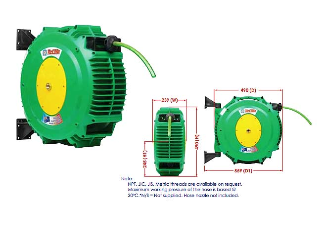Hose - and Reel - RECOILA Gen3 SpringCoil Garden