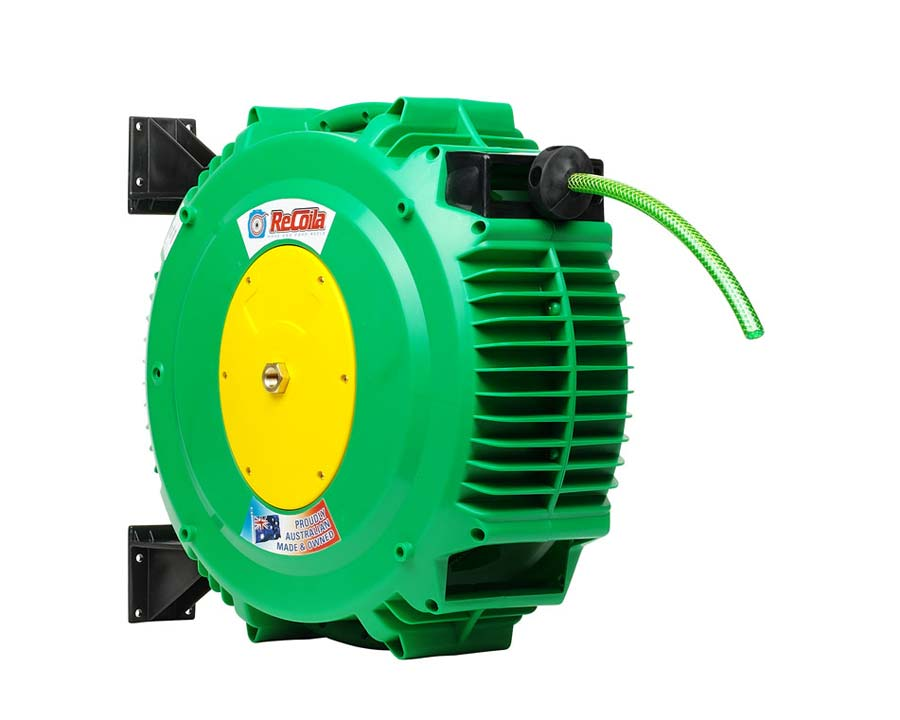 Recoila Gen3 Springcoil garden hose and reel G1218 - has 18m of garden hose