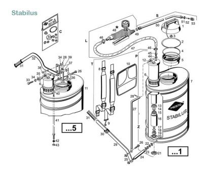 Stabilus - model#3541 - exploded diagram of parts