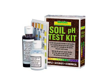 Gardensonline ph soil test kit manutec for Soil test kit