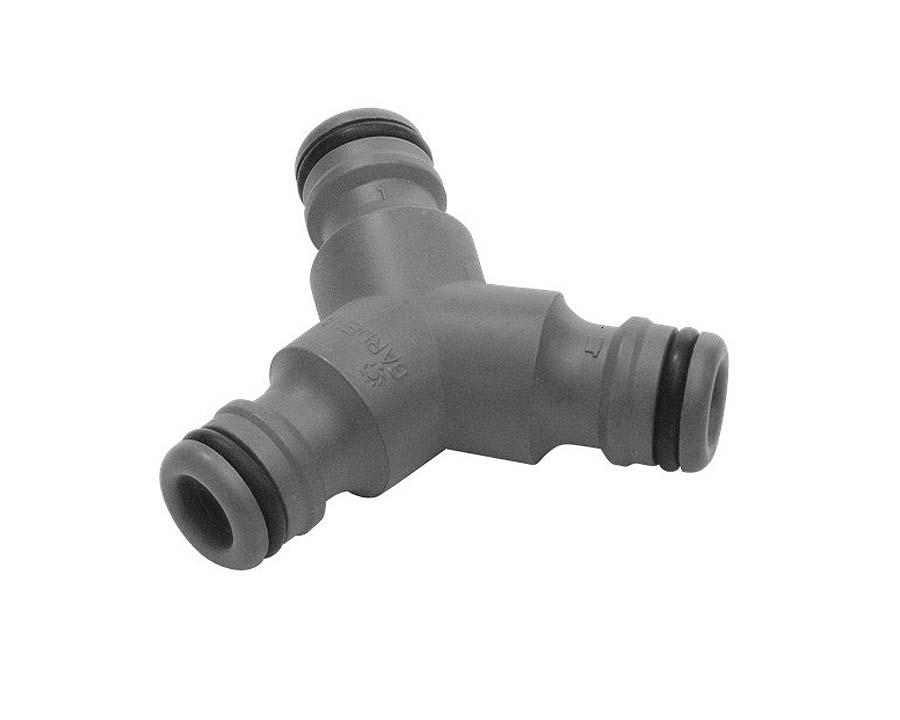 Hose Fitting - 12mm 3-way hose coupling GARDENA