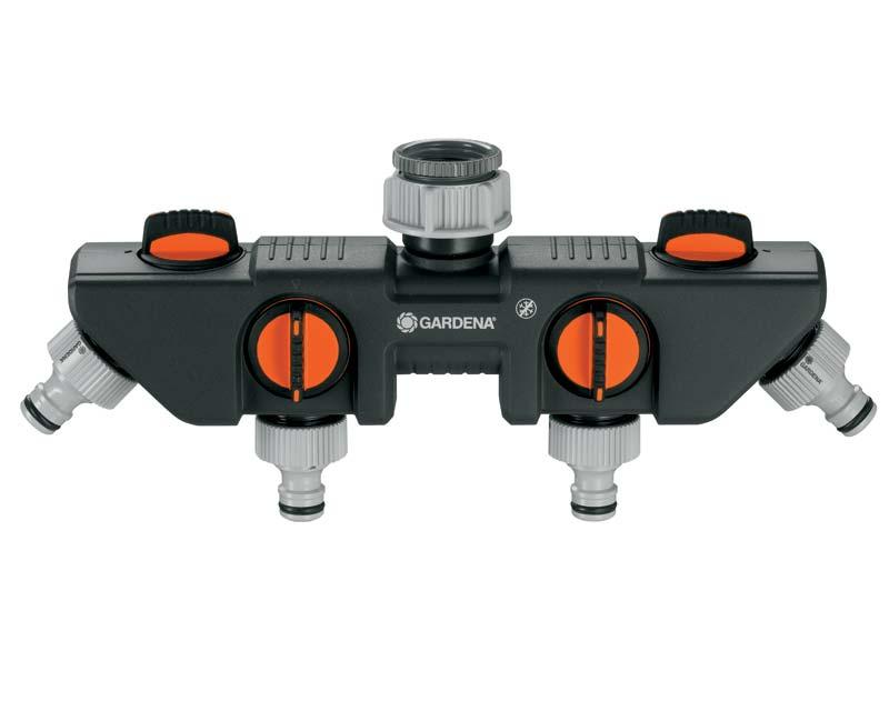 Water Control - 4 outlet adaptor GARDENA