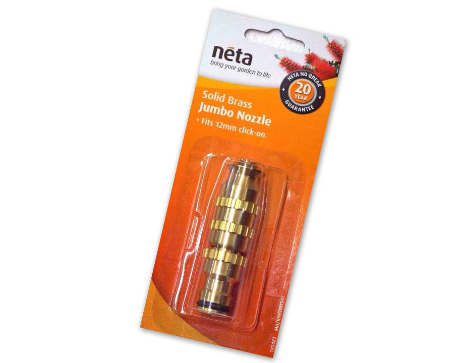 Brass Jumbo nozzle, 12mm - Neta