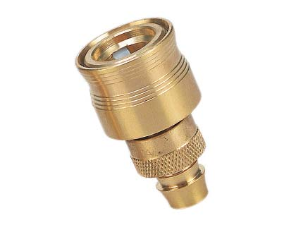 Hose Fitting - Brass 18mm click-on Hose Connector