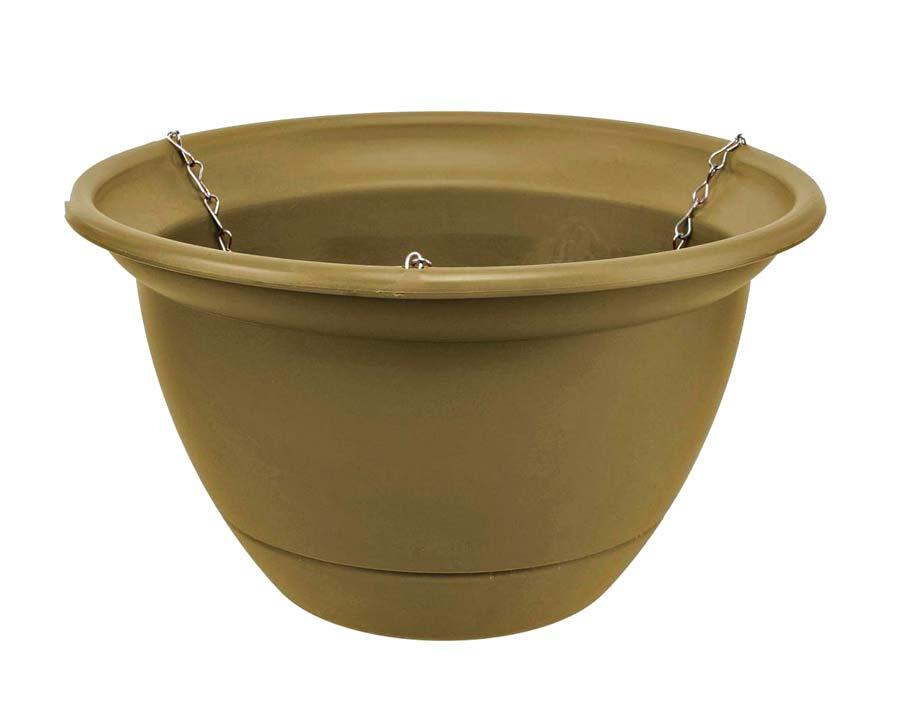Tuscan Self-Watering Hanging Basket - Olive