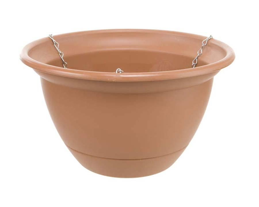 Tuscan Self-Watering Hanging Basket - Terracotta