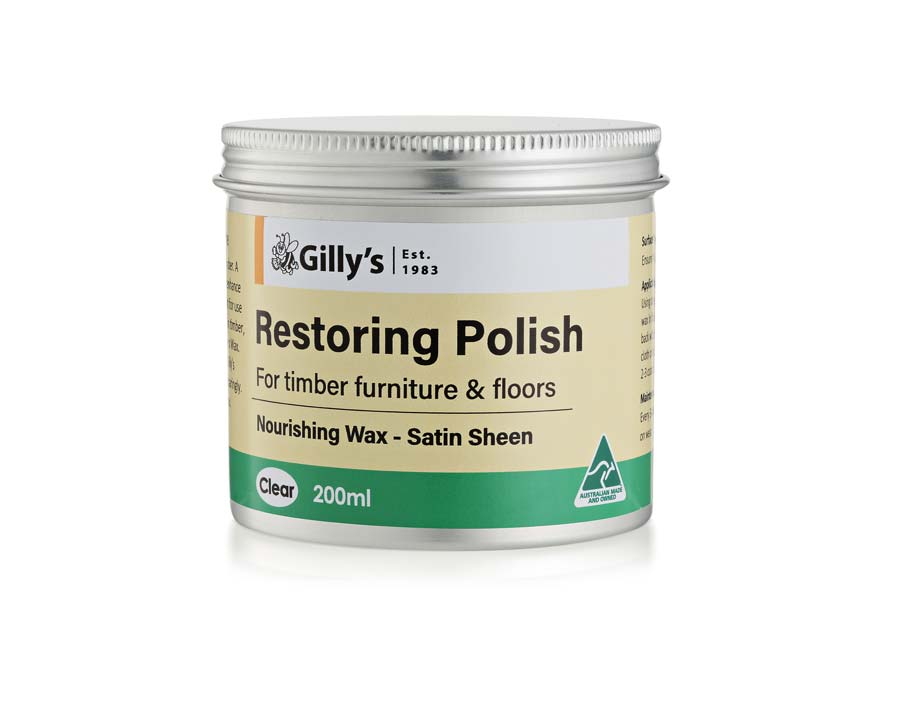 Restoring and New Timber Polish - Gillys Waxes & Polishes