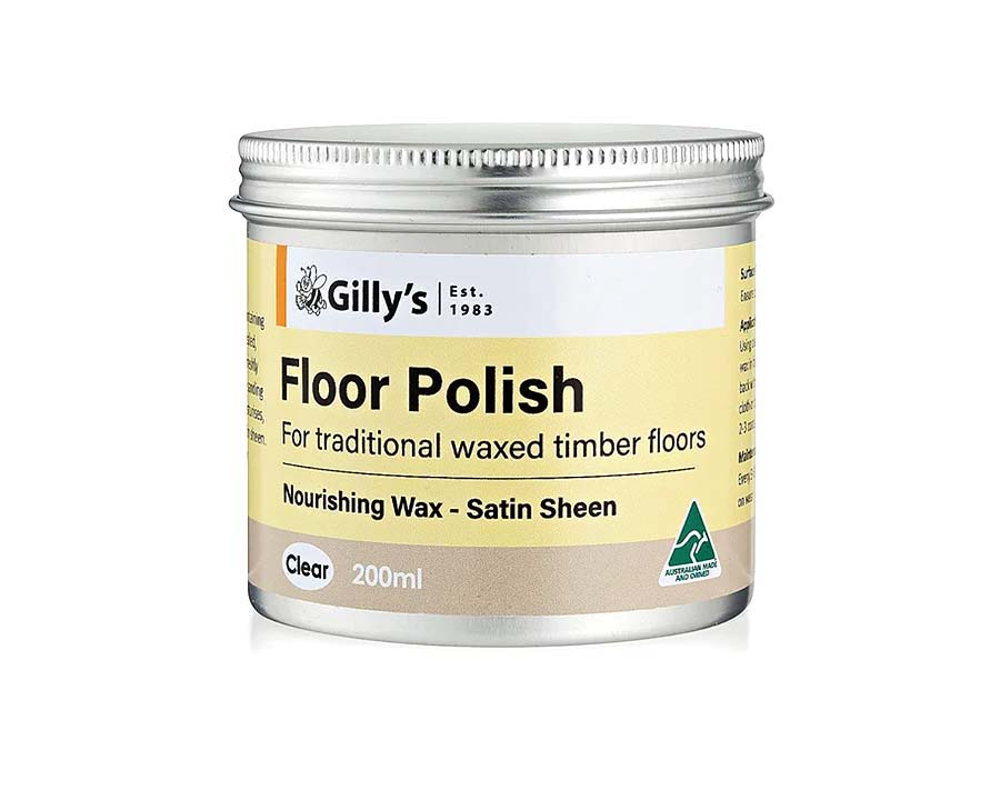 Floor Polish, Clear Wax for Pale Wood - Gillys
