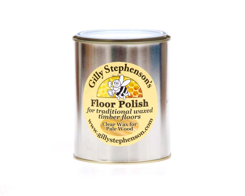 Gilly Stephenson's Floor Polish, Clear Wax for Pale Wood - one litre can