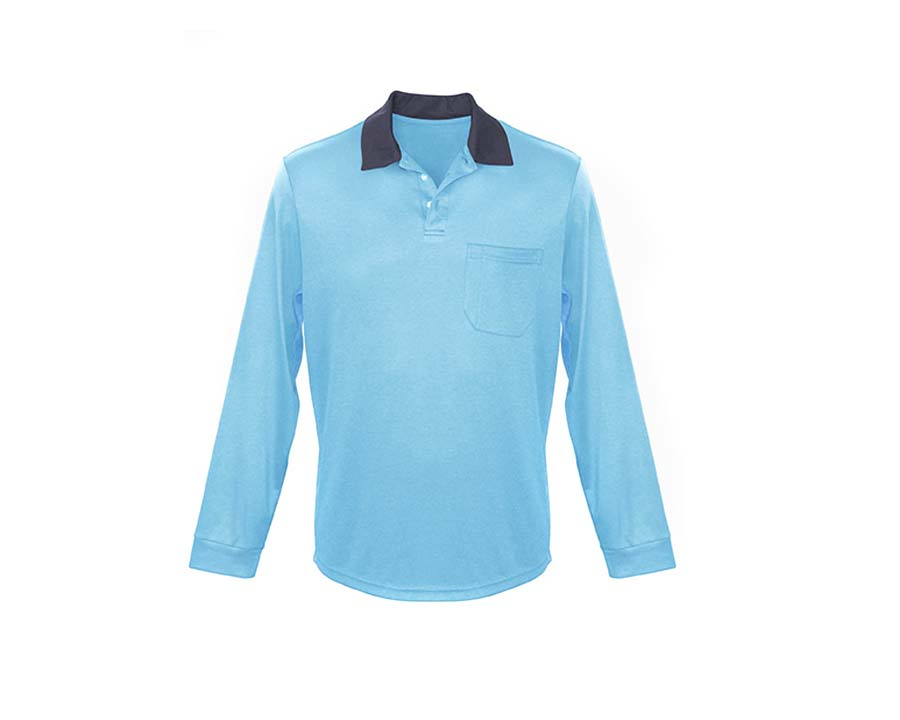 Classic Polo Shirt in Blue - Sun Protection Australia
