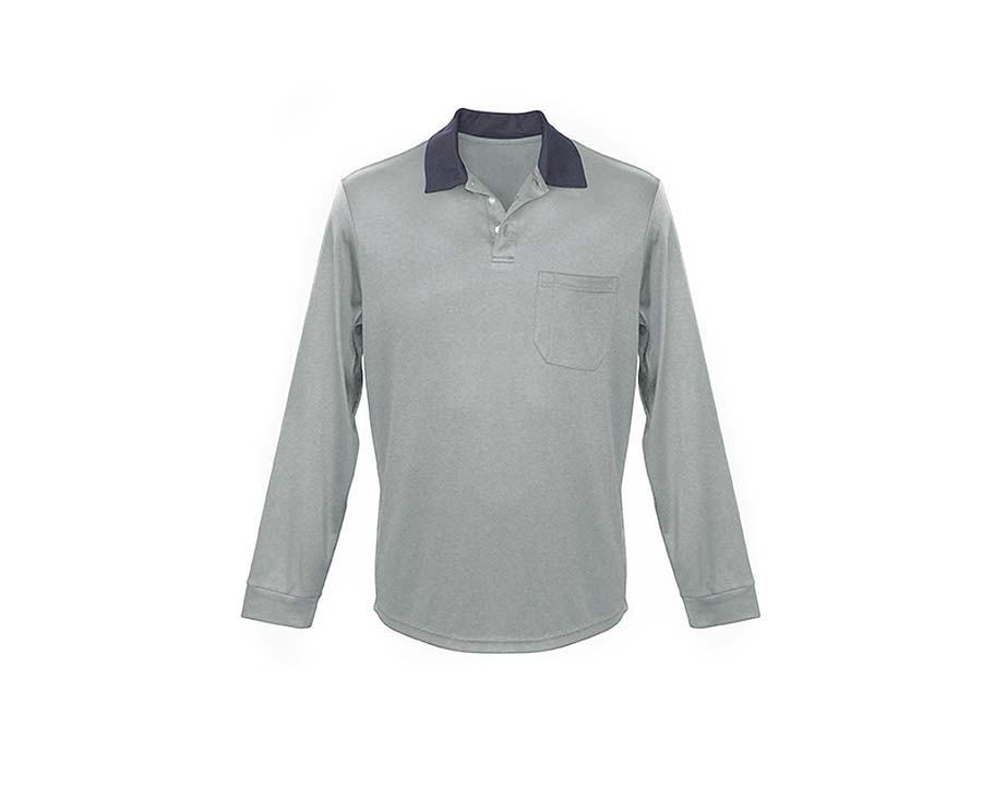 Classic Polo Shirt in Silver - Sun Protection Australia