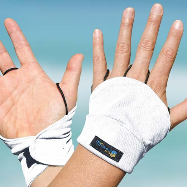 Palmless gloves - white