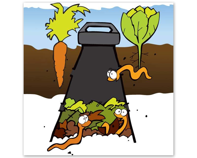 WormFeast - in-ground composting of kitchen scraps