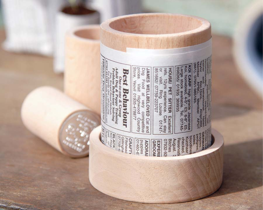 Paper Pot maker by Burgon and Ball