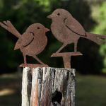 Wrens - decorative garden art