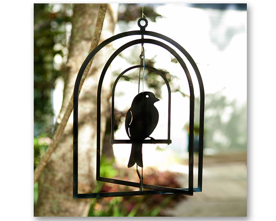 Bird cage - 3D hanging garden art