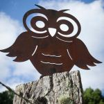 Owl - decorative garden art.